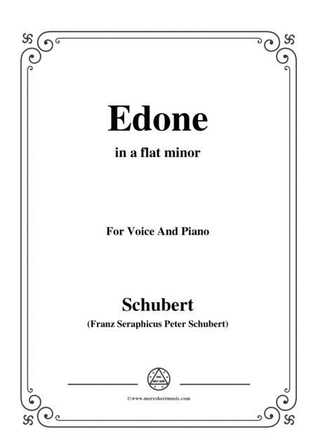 Schubert Edone D 445 In A Flat Minor For Voice And Piano  music sheet