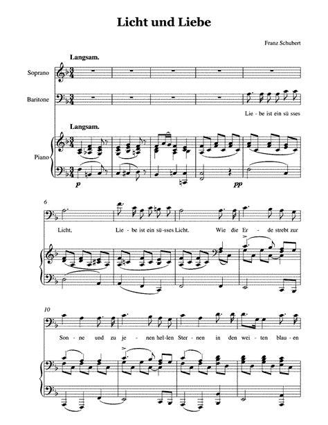 Schubert Licht Und Liebe Light And Love D 352 In F Major For Voice Piano  music sheet