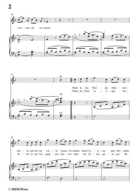 Schubert Lied Aus Der Ferne In F Major For Voice Piano  music sheet