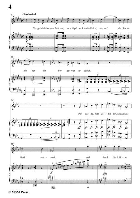 Schubert Liedesend In E Flat Minor For Voice And Piano  music sheet