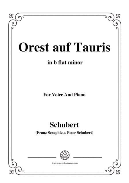 Schubert Orest Auf Tauris Orestes On Tauris D 548 In B Minor For Voice Piano  music sheet