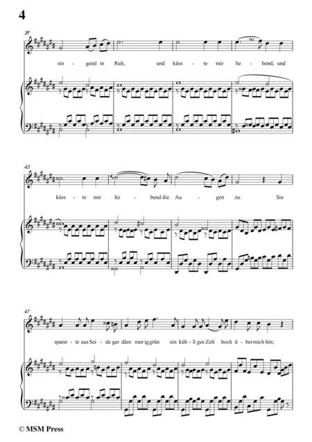 Schubert Vor Meiner Wiege In C Sharp Minor Op 106 No 3 For Voice And Piano  music sheet