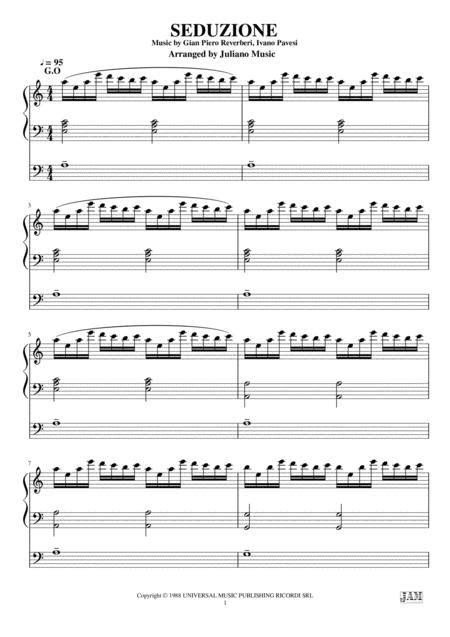 Seduzione Rondo Veneziano Organ Arrangement  music sheet