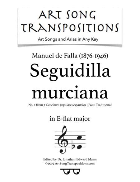 Seguidilla Murciana Transposed To E Flat Major  music sheet