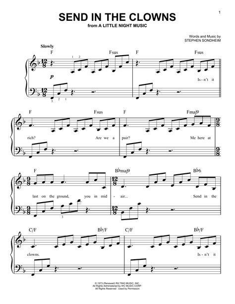 Send In The Clowns  music sheet