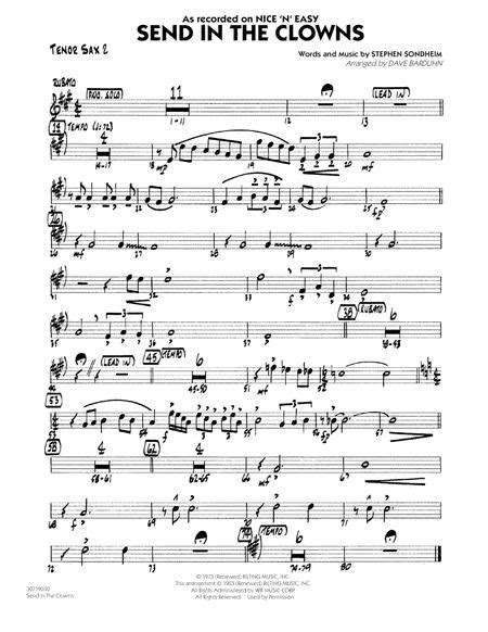 Send In The Clowns Duet For Two Tenor Saxophones  music sheet