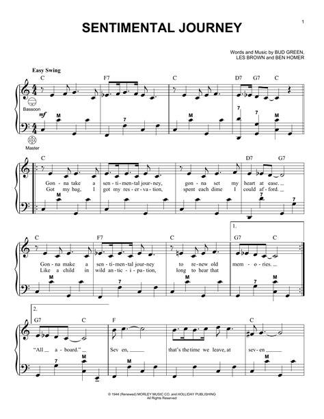 Sentimental Journey  music sheet