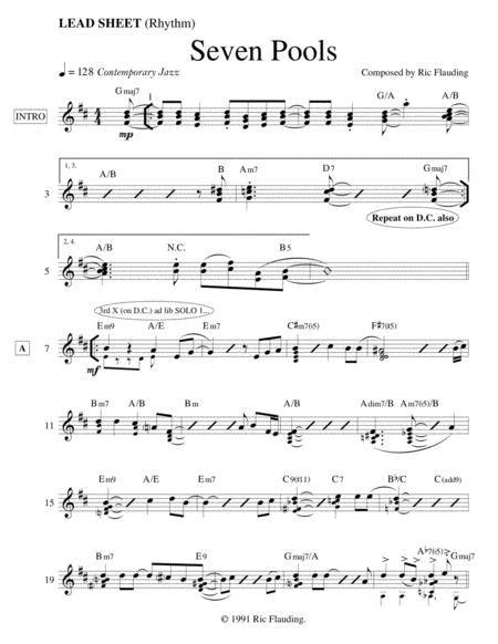 Seven Pools Lead Sheet  music sheet