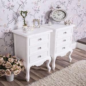 shabby white bedside tables eBay