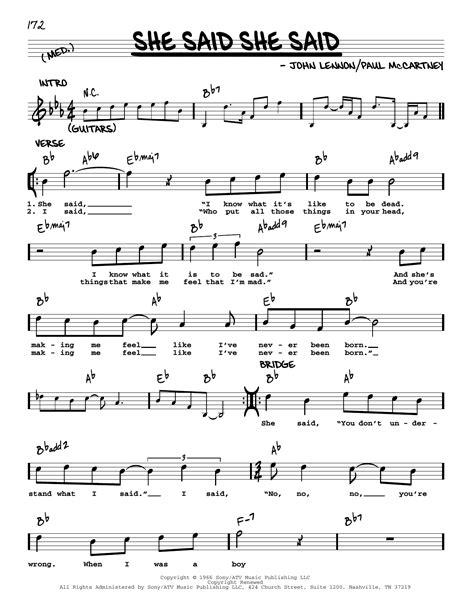 She Say  music sheet