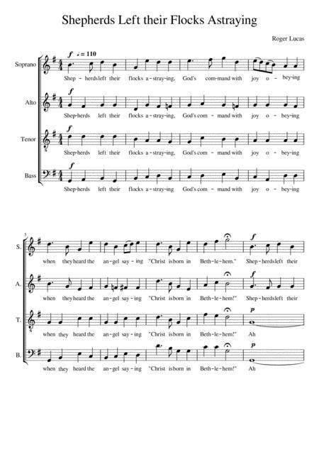 Shepherds Left Their Flocks Astraying music sheet