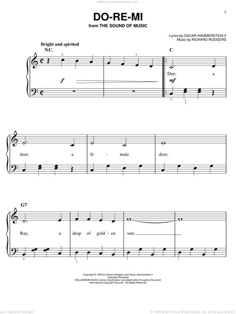 Short Ez Piano 31 The Sound Of Music From The Sound Of Music  music sheet