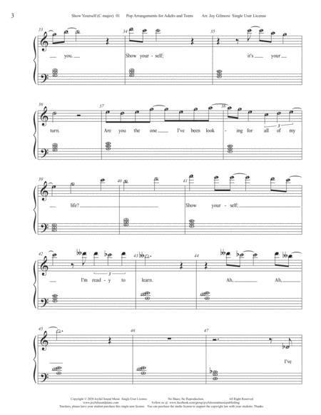 Show Yourself Frozen 2 Piano Arrangements In C Major  music sheet