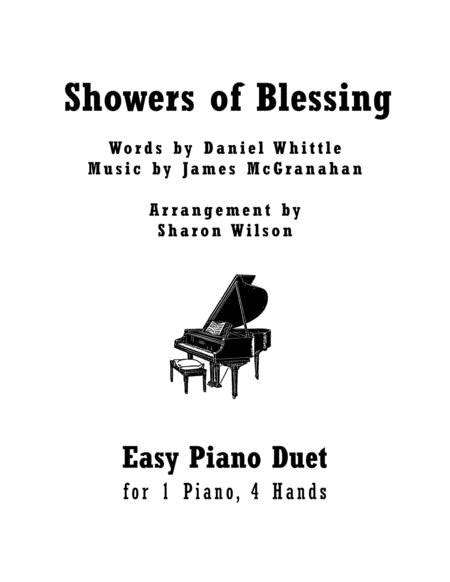 Showers Of Blessing Easy Piano Duet 1 Piano 4 Hands  music sheet