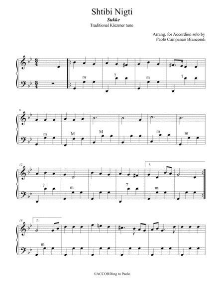 Shtibi Nigti  music sheet