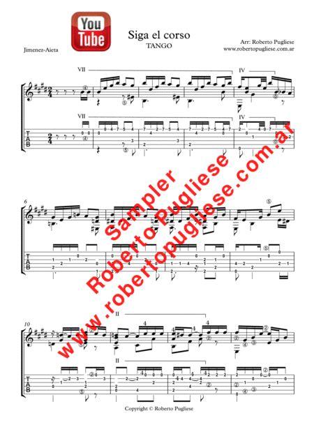 Siga El Corso Guitar Tango  music sheet
