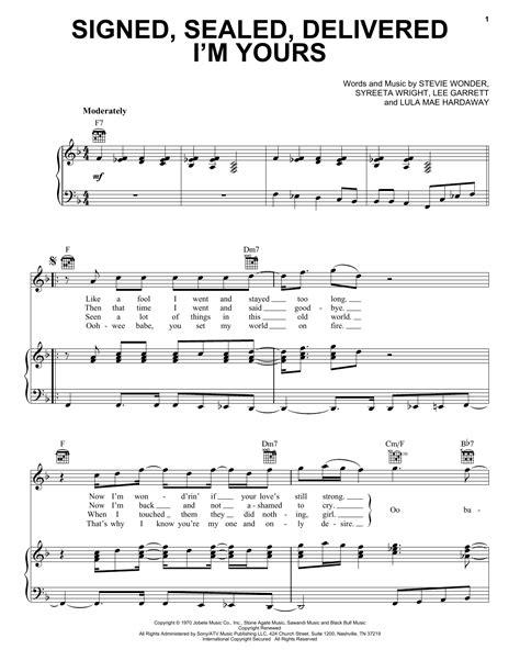 Signed Sealed Delivered I M Yours For Brass Quartet  music sheet