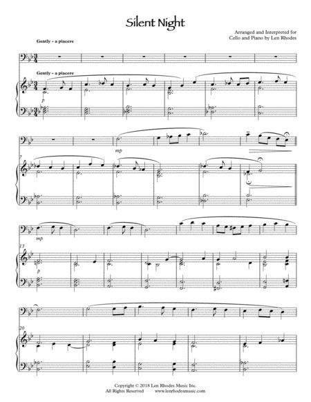 Silent Night Arranged For Piano Violin And Optional Cello  music sheet