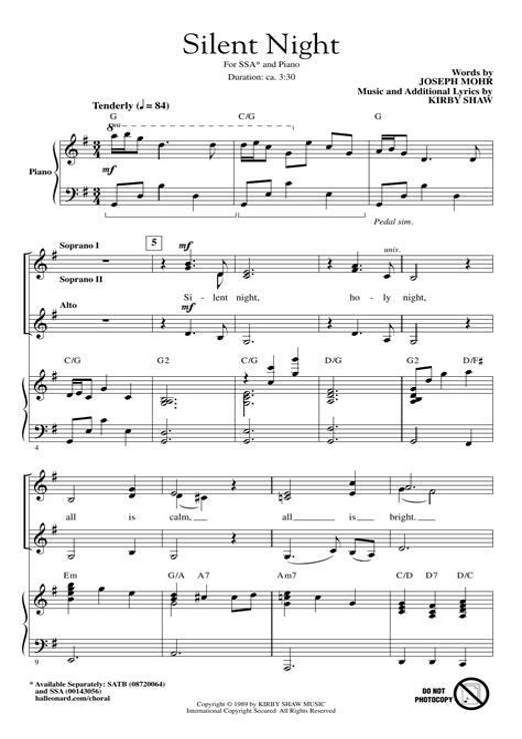Silent Night Bossa  music sheet