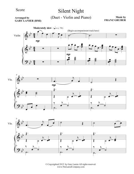 Silent Night Duet Violin And Piano Score And Parts  music sheet