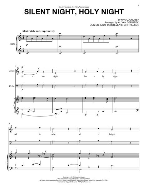 Silent Night Holy Night For Orchestra  music sheet