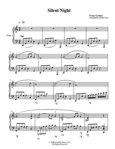 Silent Night Pedal Harp Solo  music sheet