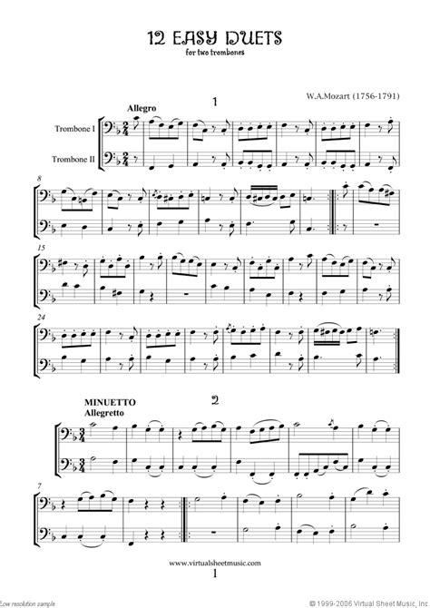 Silver Bells Trombone Tuba Duet  music sheet
