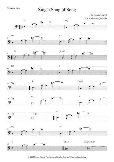 Sing A Song Of Song Kenny Garret Bass  music sheet