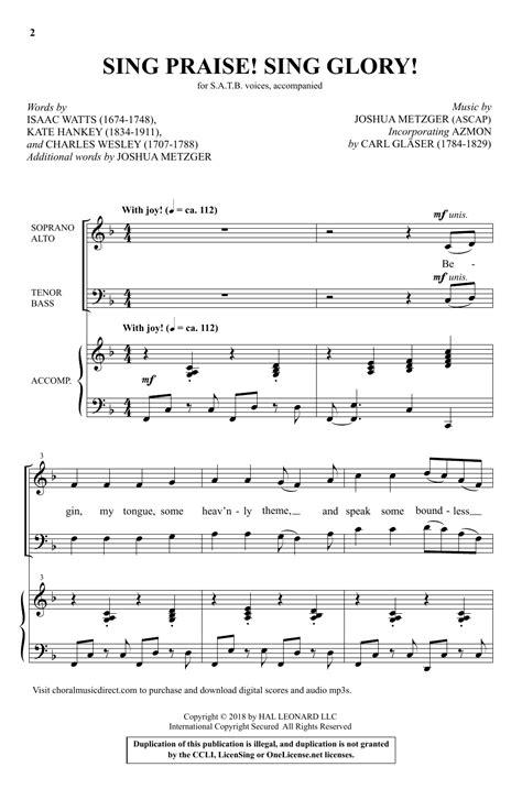 Sing Glory  music sheet