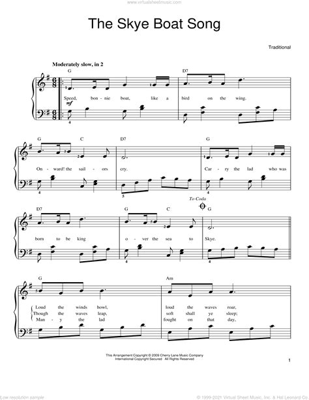 Skyeboat Song Brass Quartet  music sheet