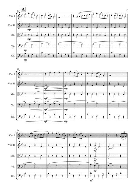 Sleigh Ride Leroy Anderson String Quintet Arr Adrian Wagner  music sheet