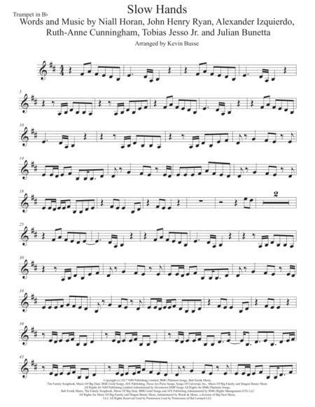 slow hands easy key of c tenor sax music sheet