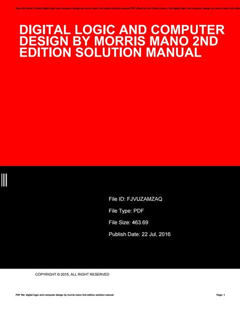 free download ebooks Solution Manual Digital Design 3rd Edition.pdf