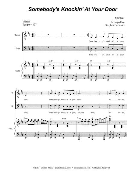 Somebodys Knockin At Your Door Duet For Tenor And Bass Solo  music sheet