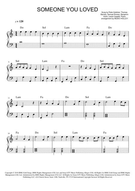 Someone You Loved Oboe Easy Key Of C  music sheet