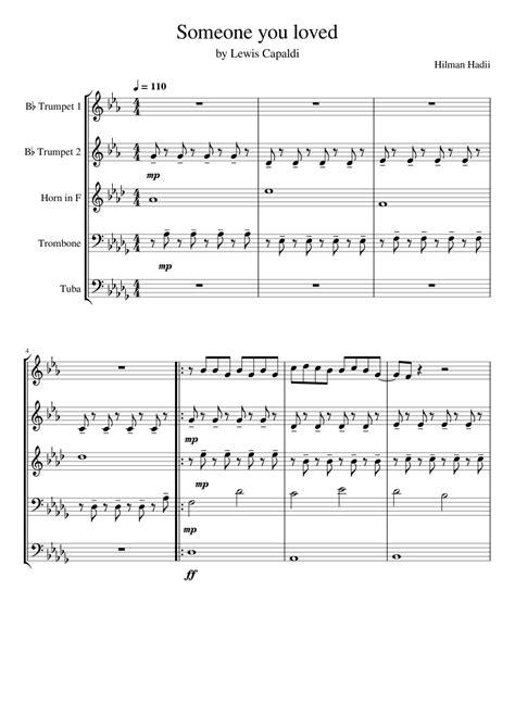 Someone You Loved Tuba  music sheet