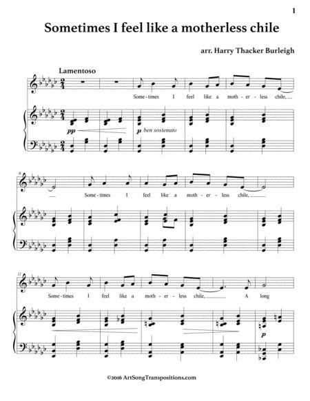 Sometimes I Feel Like A Motherless Chile E Minor  music sheet