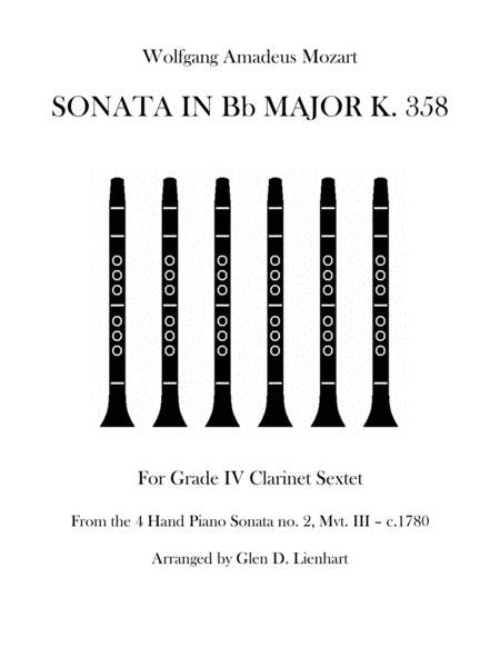 Sonata In Bb Major K 358  music sheet