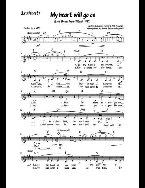 Sonccuimn To My Heart  music sheet