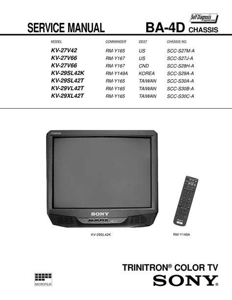 free download ebooks Sony Trinitron Kv 27v42 Manual.pdf