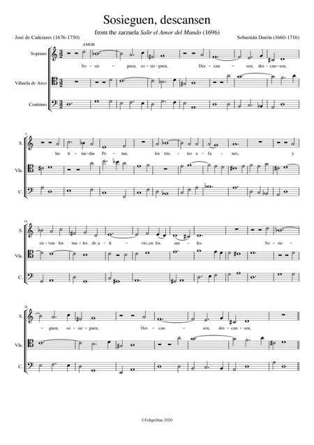 Sosieguen Descansen  music sheet