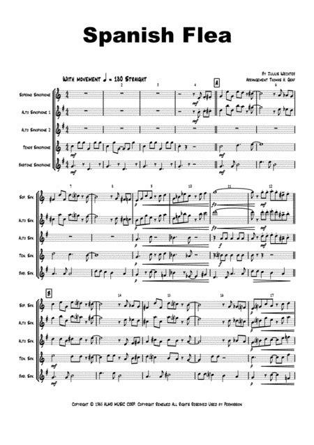 Spanish Flea Herb Albert Saxophone Quartet  music sheet