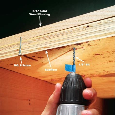 squeaky floor repair How to Operate Your Home htoyh