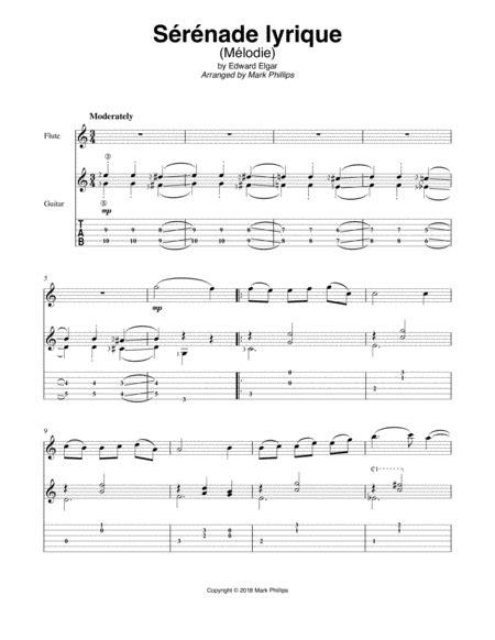 Srnade Lyrique  music sheet