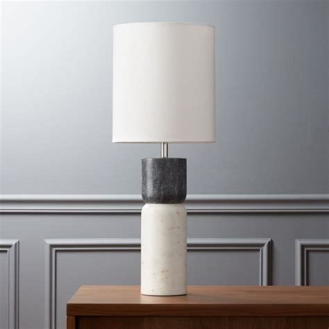 stacked marble table lamp CB2