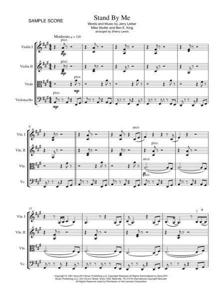 Stand By Me Viola Quartet  music sheet