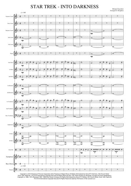 Star Trek Generations Overture Theme From The Paramount Motion Picture Star Trek Generations  music sheet