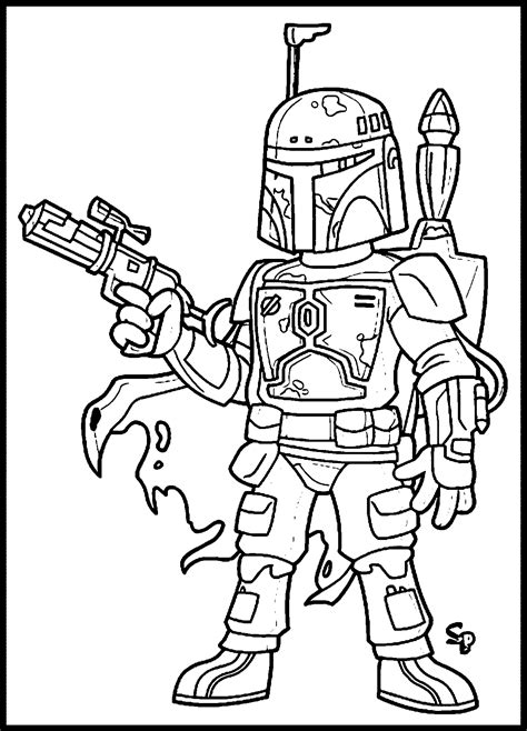 star wars boba fett Coloring pages Printable