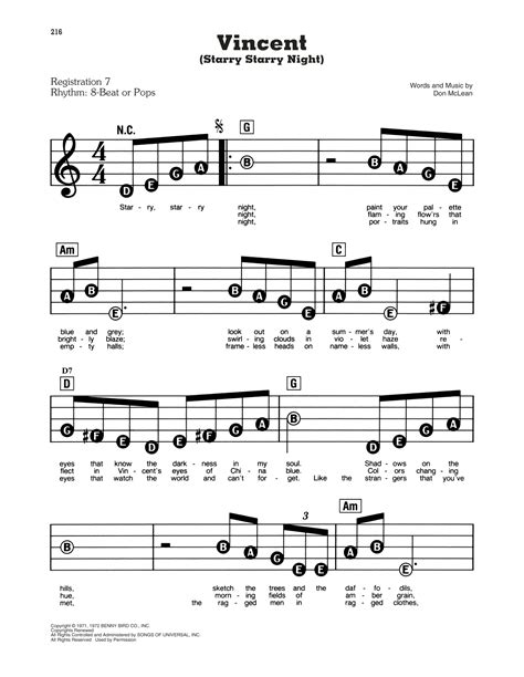 Starry Night Full Score And Parts  music sheet
