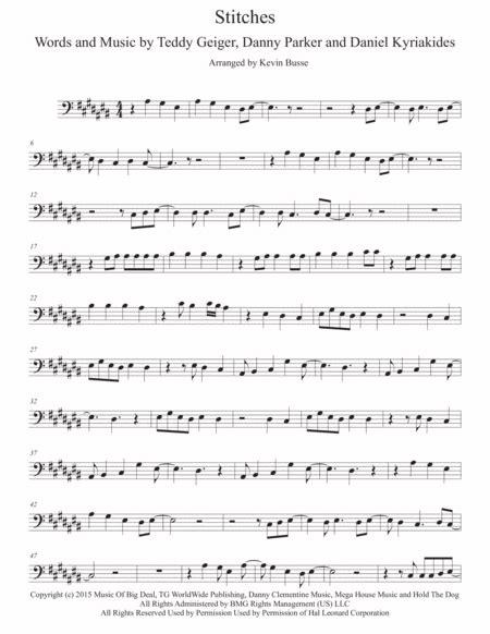 stitches original key alto sax music sheet